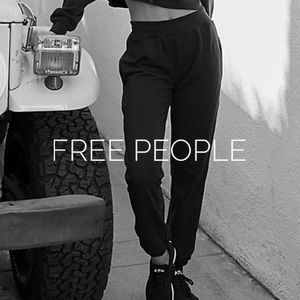 New Free People black joggers